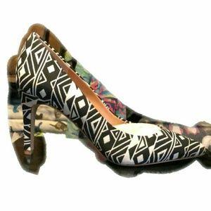 J crew Aztec ikat heels